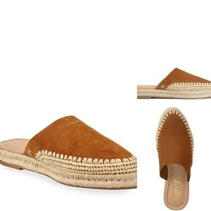 NEW Sam Edelman  Suede Leather Espadrille Mules